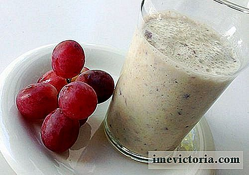 Delicious smoothie dům s rozinkami a oves pro srdce